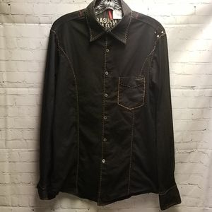 Black Parasuco Denim Cult long sleeve button down
